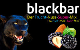 blackbar, der Frucht-Nuss-Super-Mix, in Riegelform